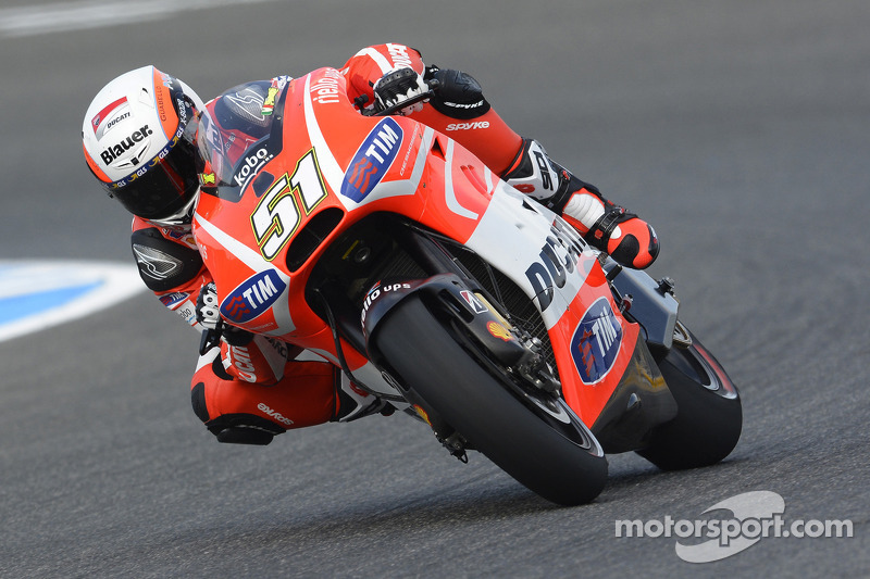 Pirro ended up with a row 4 grid place at the Misano Circuit