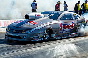 NHRA Breaking news Jason Line unhurt in crash during test session