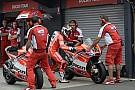 Desmosedici GP13 were kept in garage for day 1 at Motegi