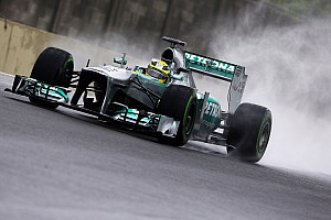 Formula 1 Qualifying report Mercedes's Rosberg will start from the front row for the Brazilian GP
