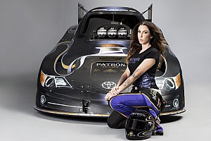 NHRA Qualifying report DeJoria becomes first woman to run in 3.9's in Funny Car
