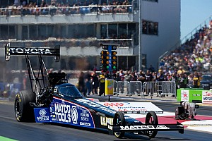 NHRA Qualifying report Antron Brown ready for better start Sunday after qualifying third at Pomona
