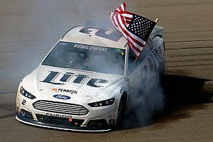 NASCAR Cup Race report Last-lap pass boosts Keselowski for the weekend sweep in Vegas