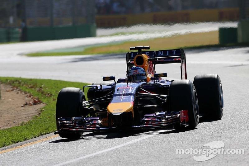 Infiniti Red Bull Racing drivers after Friday at Albert Park