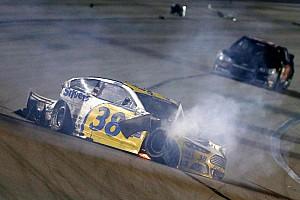 NASCAR Cup Breaking news David Gilliland and Justin Allgaier walk away from violent wreck at Kansas - video
