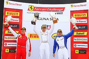 Ferrari Race report Three victories for Scuderia Corsa in Ferrari Challenge at Laguna Seca