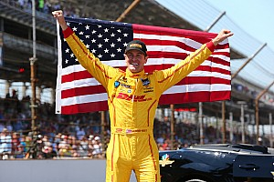 IndyCar Race report Ryan Hunter-Reay wins at Indy
