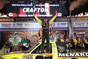 NASCAR Truck Race report Crafton gambles and collects the victory at Texas