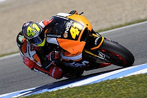 MotoGP Practice report Bridgestone: Aleix Espargaro quickest in opening melee at Montmeló
