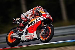 MotoGP Practice report Marquez fastest on rain affected day one at Brno