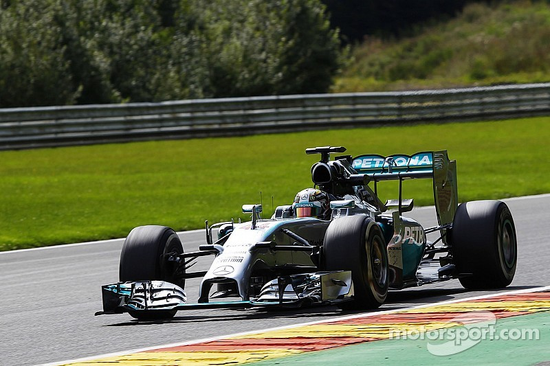 Mercedes began the Belgian GP weekend at the top of the time sheets