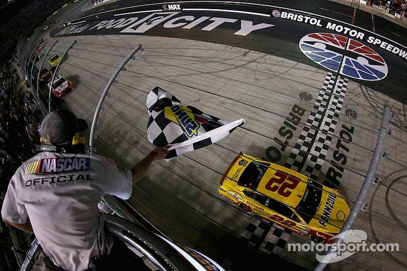 Logano nabs third win of the season in Bristol night race