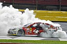 Harvick wins at Charlotte as brawl breaks out in garage