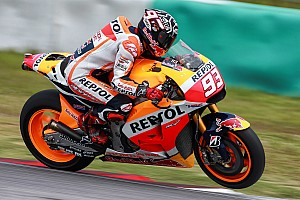 MotoGP Testing report Marquez breaks through parts issues to lead in Sepang