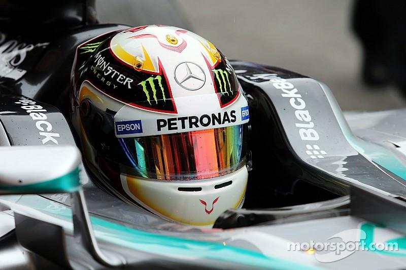 Hamilton con problemas en Barcelona