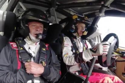 """Solche Angst!"" Kalle Rovanperä pilotiert Vater Harri im WRC-Auto"
