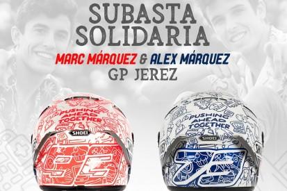 Versteigerung für guten Zweck: Marquez-Brüder mit speziellem Helm in Jerez