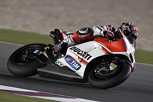 MotoGP Practice report Ducati Team riders get down to first day of free practice for the GP of Qatar at the Losail circuit