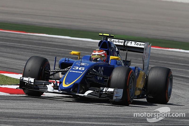 Raffaele Marciello debut on the Sauber C34 on the FP1 for the Malaysian GP