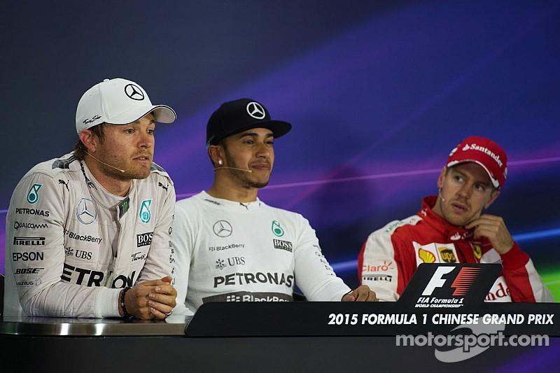 """Vettel """"recibiría"""" bien que el dúo de Mercedes tenga problemas en la pista"""