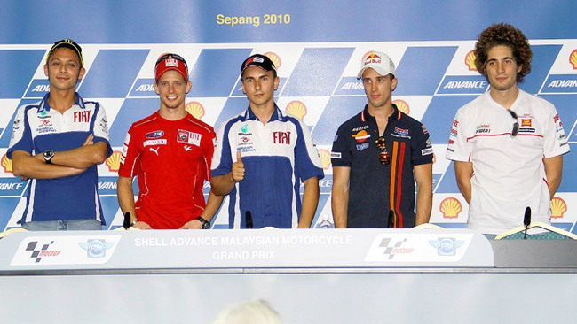 Lorenzo e Rossi protagonisti nella conferenza stampa