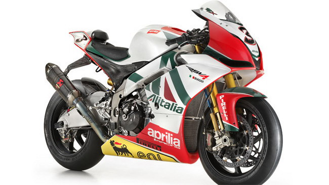 L'Aprilia RSV4 Biaggi Replica al Luxury Garage