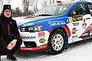 Richard Goransson al via del Rally di Svezia