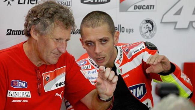Valentino Rossi al Mugello senza Jeremy Burgess