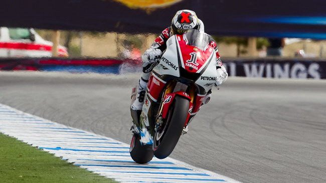 Lorenzo vuole migliorare l'entrata di curva della M1