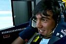 Matteo Manassero al simulatore della Red Bull