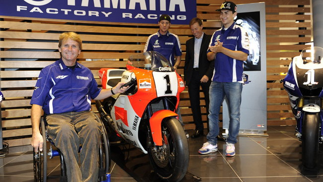 Rainey visita la factory del team ufficiale Yamaha