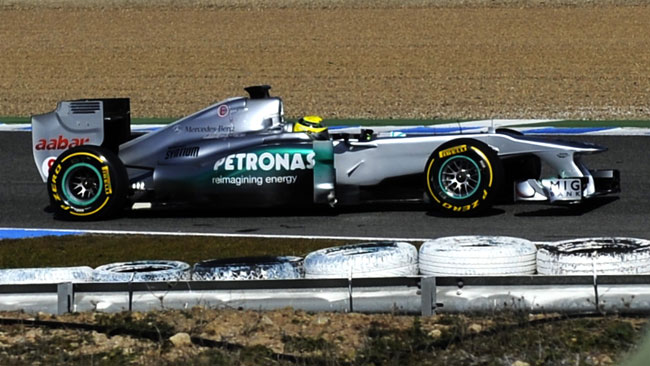 Jerez, Day 3: Rosberg tiene in alto la Mercedes 2011