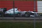 Test privato a Barcellona per la Mercedes W03
