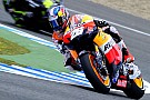 Warm up a Pedrosa, Stoner rimane ai box