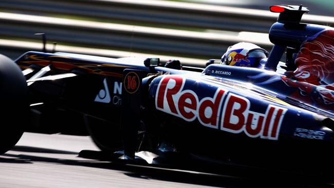 La Toro Rosso gira a Imola per uno spot pubblicitario