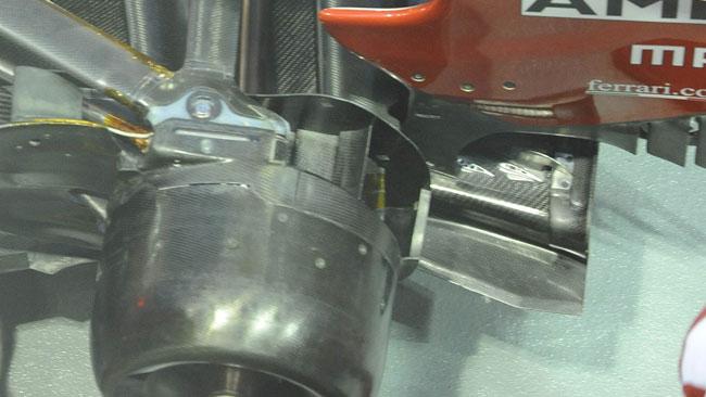 Piccole modifiche al diffusore della Ferrari