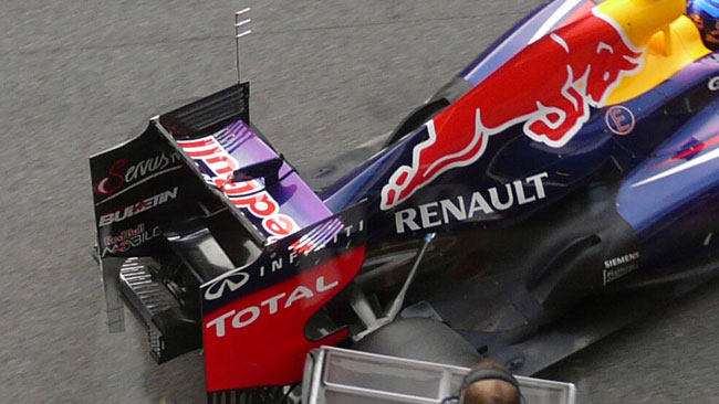 La Red Bull ha montato una griglia di sensori