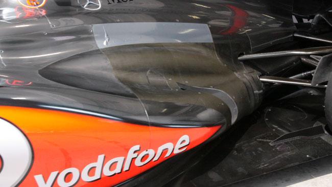 La McLaren è più panciuta nella zona degli scarichi