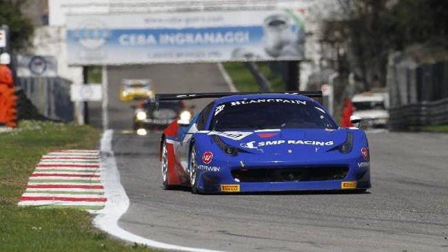 Pier Guidi porta la Ferrari 458 della SMP in pole position