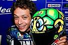Valentino Rossi con il casco da... tartaruga