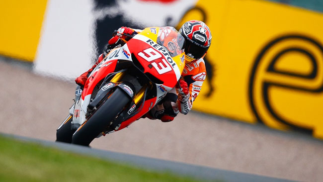 Marquez in pole, Valentino ritorna in prima fila