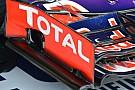 Red Bull: si arriccia la paratia dell'ala davanti