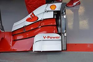 Ferrari: la nuova ala anteriore con più soffiaggi