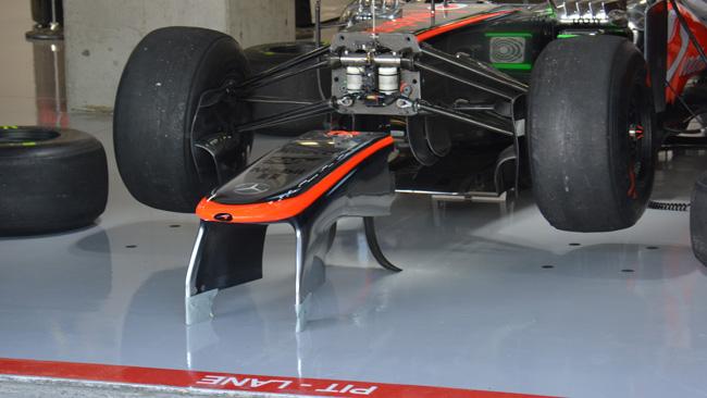 McLaren ancora con i piloni meno inclinati