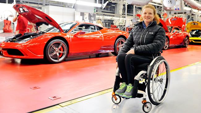 La Ferrari a Sochi con una slitta in carbonio