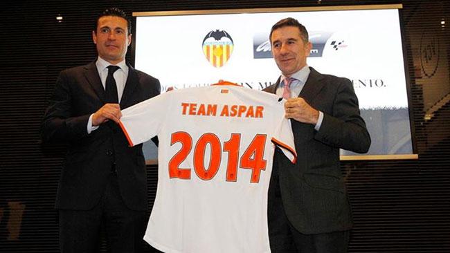 Calcio e MotoGp insieme: Aspar si lega al Valencia