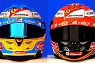 Svelati anche i nuovi caschi di Alonso e Raikkonen