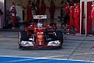 La Ferrari di Alonso fa delle prove di aerodinamica