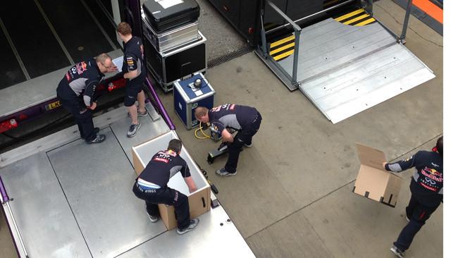 La Red Bull sta già smontando per tornare a casa