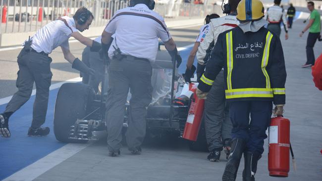 Bahrein, Day 3 (Ore 9,14): Sutil fuma con la Sauber